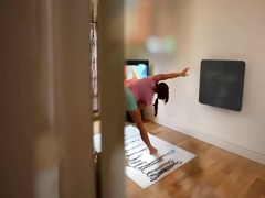 watching your step sister practice yoga - c4r