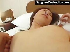 daughter mouth and love tunnel screwed hard
