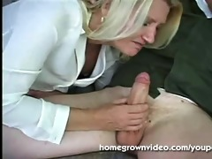 blonde older mama receives banged
