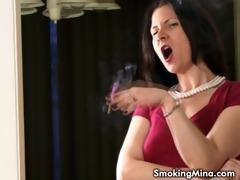 sexy smoker milf talks whilst smokin