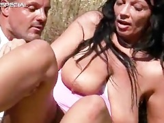 concupiscent milf receives fucked hard outdoor