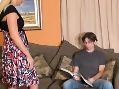 step-mom gives virgin lad cook jerking