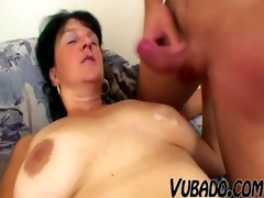 mature woman fucks with young guy !!