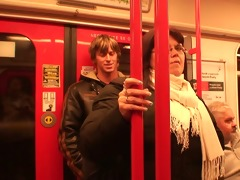 horny fellow hooks up busty mature chick in metro