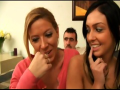 teen brunette does job interview and threesome