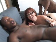 floozy wife fucks 2 bbc in front of cuckold