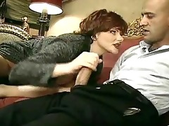 old amoral woman lures a younger man into having