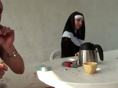 french nun anal screwed in threesome