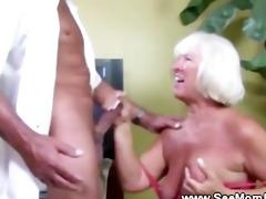 granny sucks schlong and can get enough