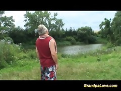 grandpapa gets lucky with a blond babe in the