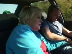 car driver bangs granny wench