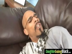 dady watching his daughter gangbanged by black 12
