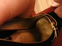 cum over sister-in-laws high heel shoes