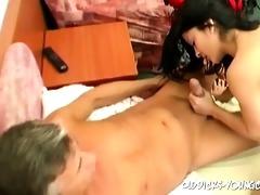 65yo dude fucks threesome youthful cunt