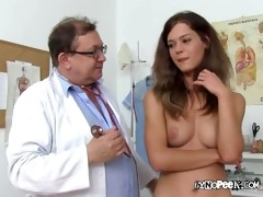 blonde beauty veronica for stripped medical exam