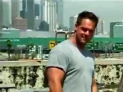 men about city