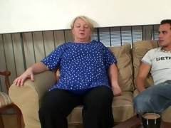 granny receives drilled by young guy after