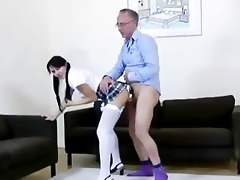 older lad and younger playgirl fuck and cumshot