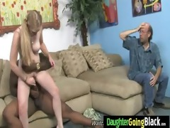 see my daughter getting a black monster pecker 17