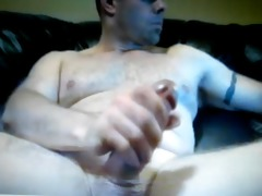 daddy shows off his thick cock