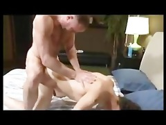 hung daddy aggressively face fucks then breeds