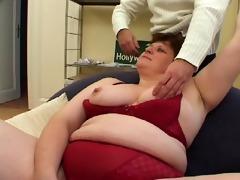 huge girl takes on boy half her size