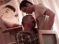 handsome twink acquires his boner sucked by aged