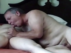 older man loves to engulf dick of younger