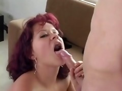 charming mommy with natural tits &; smth