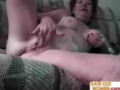 unattractive old woman and youthful horny guy