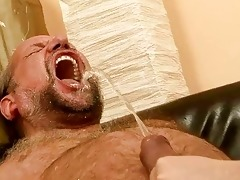 old man fucking and pissing on nasty redhead