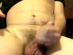 youthful wanker masturbates and blows a large