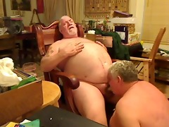 fat dad sucking