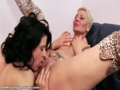 wicked aged woman gets her slit licked