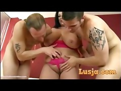 breasty british mother i takes on 2 large dongs
