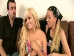 big mounds youthful girl group-fucked by old pair