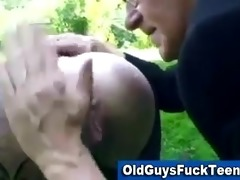 old boy oral-sex by hot younger babe