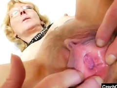 blondie mother gapes and copulates her fuck hole