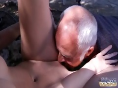 oldman have to pleasures horny youthful landlady