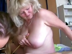 old big fat woman granny has fun