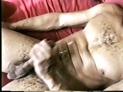 ebony brother waxing his own penis