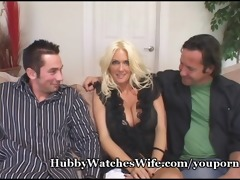 hawt wife screwed while hubby watches!