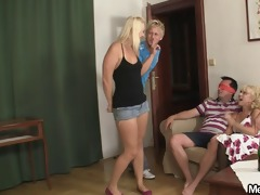funny three-some with his girlfriend