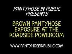 flashing pantyhose housewife whore exposing on