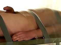 hawt twink scene belted down and at the mercy of