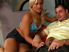yummy mama teaching her daughter how to suck