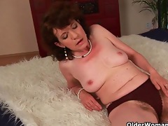 curly grannies unload a cock on their face and