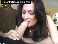 daughter throat and bawdy cleft screwed hard