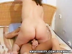 older amateur wife sucks and copulates with a