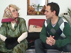 grandma pleases an juvenile guy
